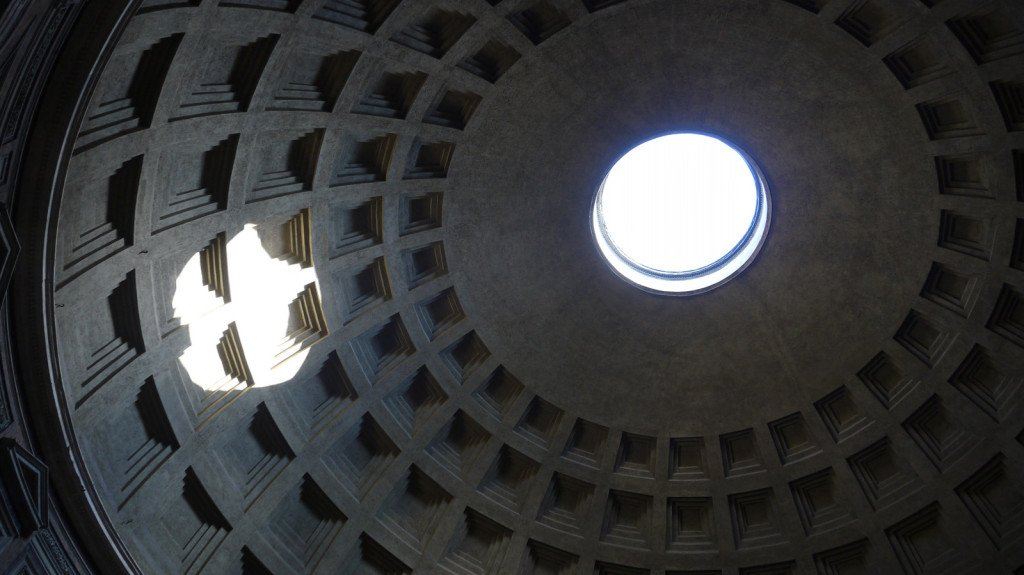 The Pantheon's roof