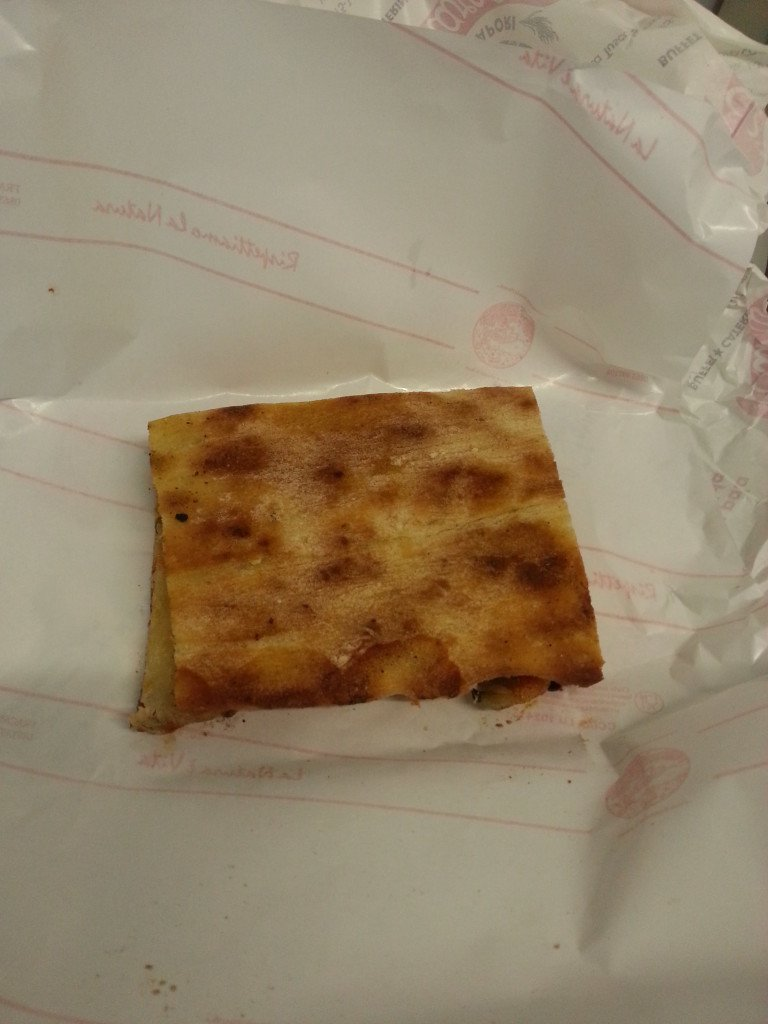 Folded pizza slice
