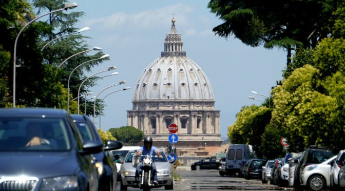 St Peter's Basilica from Via Niccolò Piccolomini