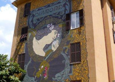 Tor Marancia street art, Diamond - Rome Vacation Tips